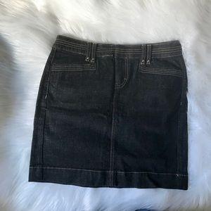 Black Jean Skirt
